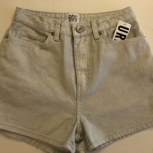 BDG Denim Shorts - metallic 'pearl'